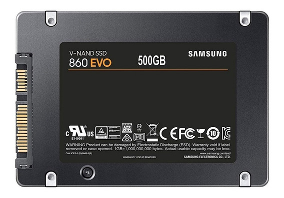 Hd Ssd 500gb Samsung 860 Evo Sata3 2.5 550mb/s V-nand