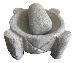 Molcajete Mexicano / Mortero De Piedra Volcánica