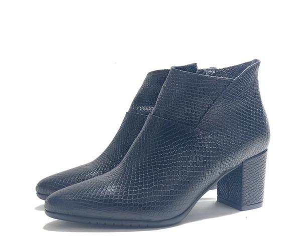 Gravagna 1626 Botineta Cuero Elegante El Mercado De Zapatos!