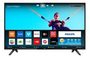 Smart Tv Led 43 Philips Full Hd Com Wi-fi, 2 Usb, 2 Hdmi,
