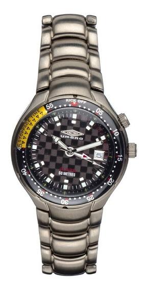 Reloj Umbro Titanio Sumergible B206qa Alarma