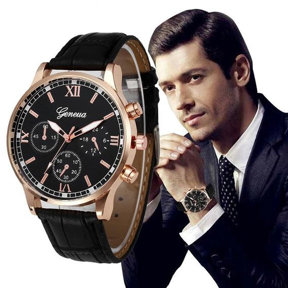 Relógio Quartzo Analógico Masculino Geneva Últimas Unidades
