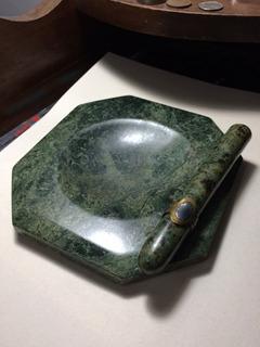 Art Deco Cigarro Cenicero Marmol Vintage Tabacos