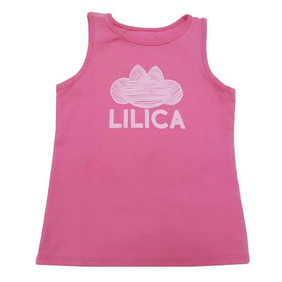 Blusa Regata Lilica Ripilica Rosa Bebê Menina 25892