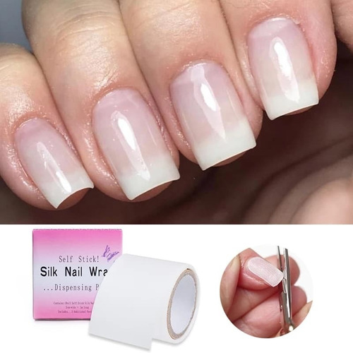 1 Rollo Fibra De Vidrio Adhesiva Uñas Silk Nail Wrap Gel Uv