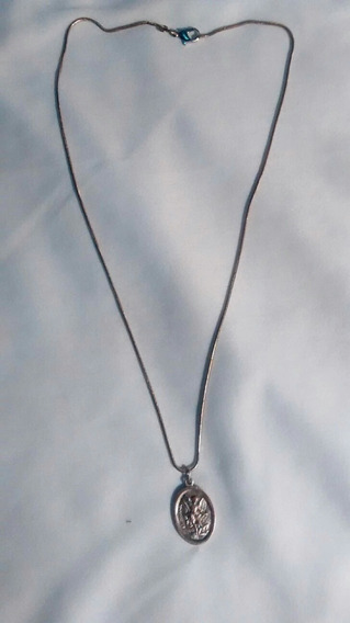 Cordao De Prata Com Medalha Do Anjo Da Guarda