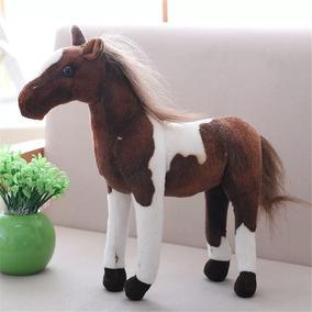 Cavalo De Pelúcia Realista Ótimo Acabamento Barato P/entrega
