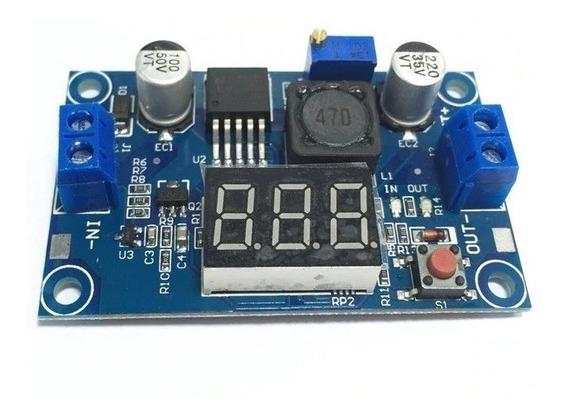 Regulador Tensão 3a Lm2596 Step-down Arduino Com Voltimetro