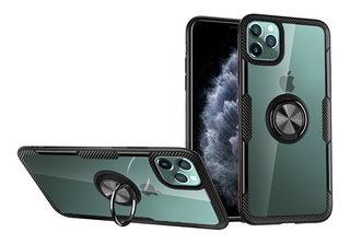Capa Case iPhone 11 Pro C/ Anel Magnético 360° + Pel Vd 10d