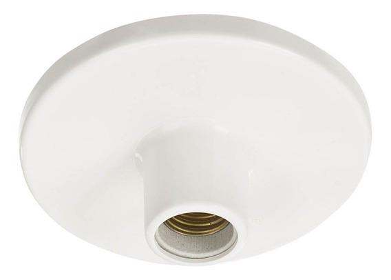 14 Plafon Plástico Bocal De Louça Porcelana E27 P/01 Lâmpada