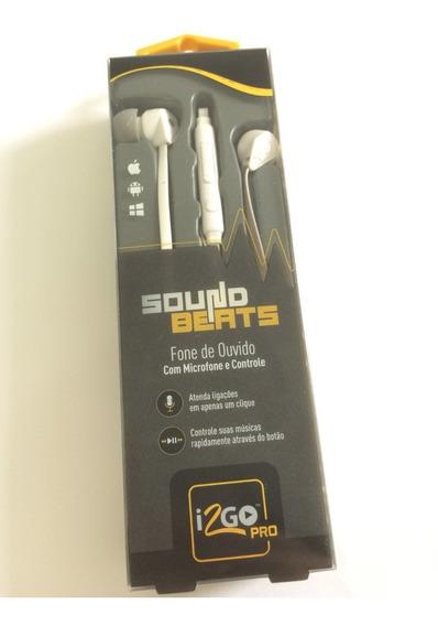 Novo Fone De Ouvido I2go Pro Preto E Branco Microfone Com Nf
