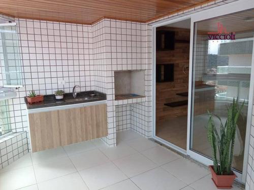 Apartamento Com 3 Dormitórios Para Alugar, 100 M² Por R$ 3.700/mês - Canto Do Forte - Praia Grande/sp - Ap2125