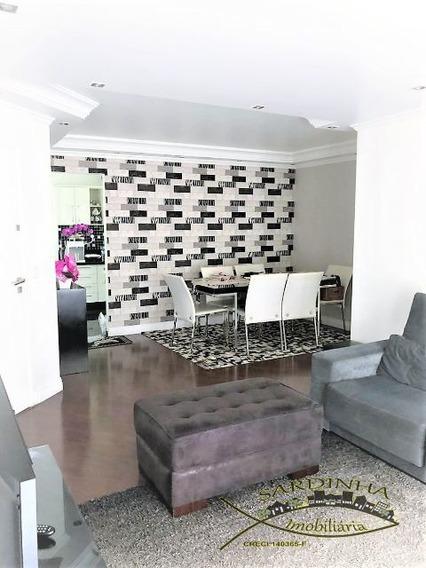 Lindo Apartamento À Venda - 117 M2 - 3 Dormitórios, 1 Suíte Com Closet, Varanda, Área De Serviço, 2 Vagas - Chácara Agrindus, Taboão Da Serra, Sp - Ml707