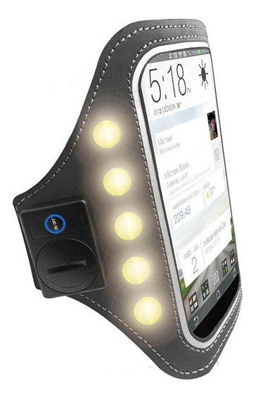 Brazalete Para Smartphone Con Led Ha-ledab-slv