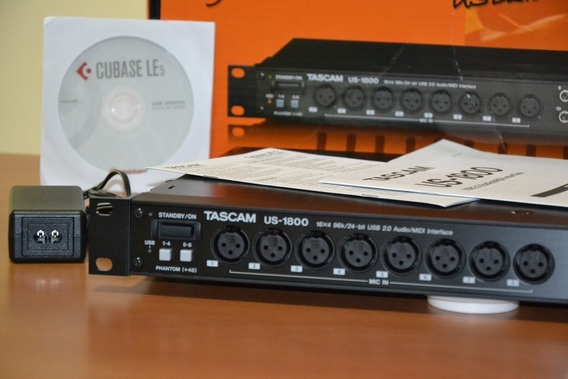 Placa Interface Us 1800 Tascam 16 Canais +software Usada