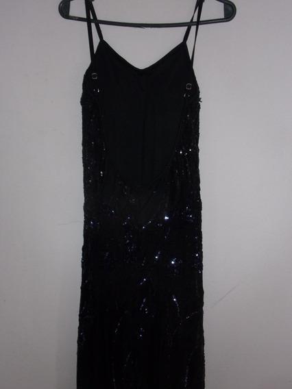 Vestido Espalda Descubierta Elegante Largo