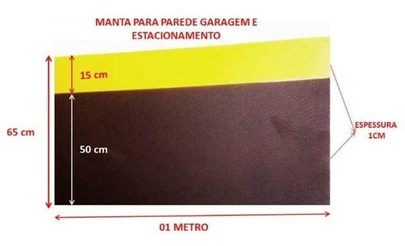 10 Manta Protetor Parede Impacto Risco Garagem Eva100x65x1cm