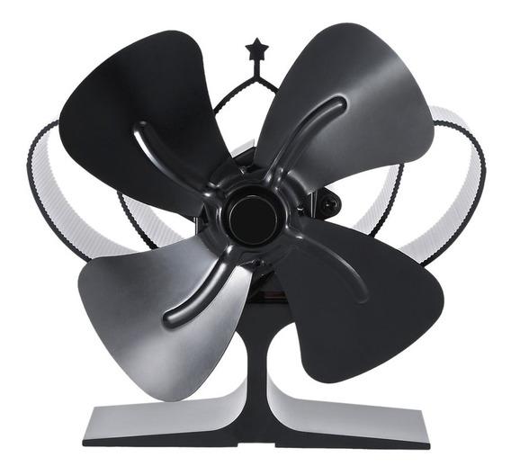4 hojas para estufas de madera funcionamiento t/érmico hojas de ventilador alternativas Ventilador de horno para chimenea
