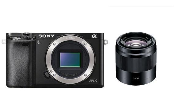 Câmera Sony A6000 + E 50mm F/1.8 Oss - Loja Platinum