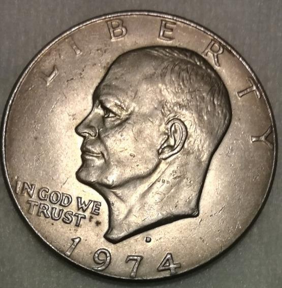 Moneda De Estados Unidos Año 1974 De Un Dollar Eisenhower.