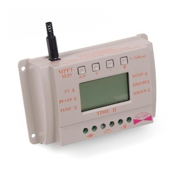 Controlador De Carga Para Painel Solar 20a Mppt 12v Ou 24v