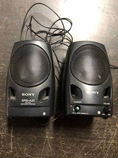 Sony Speaker System Model No Srs-a21 Parlante Pc Celular Etc