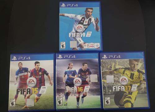 Imagen 1 de 1 de Juegos Fifa Físico Ps4 (2015, 2016, 2017, 2019) - Usados