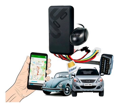 Imagen 1 de 9 de Tracker Rastreador Gps Obd Hibrido Plug&play