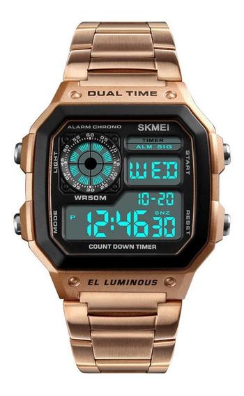 Reloj Deportivo Hombre Oro Rosa