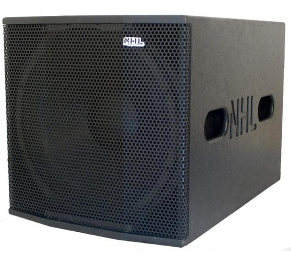 Caixa Som Subwoofer 18 Ativo 1550w Linha Premium Linha Top Nhl Pro Sound Limiter Cooler Classe Ab Trafo Compacto