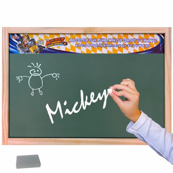 Lousa Verde Escolar Madeira Mickey Educativa