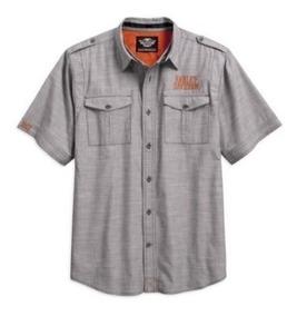 Harley Davidson Camisa Botão Blusa Roupa Masculina Casual