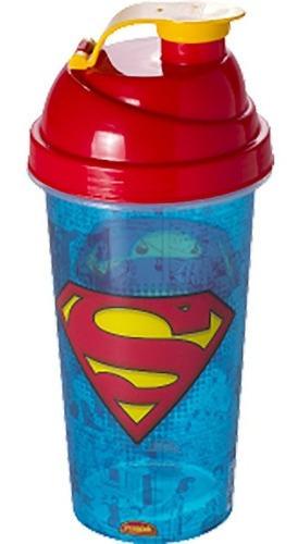 Imagem 1 de 2 de Copo Shakeira De Plástico 580 Ml Tampa Rosca Super Man Homem