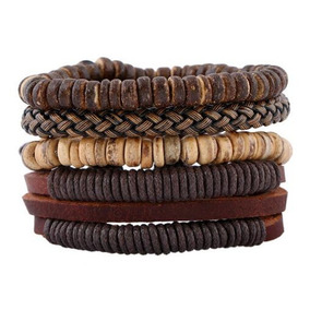 Pulseiras Bracelete Masculina Couro / Pedras 50%off