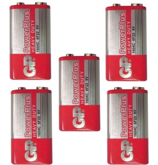 Pilha Bateria 9v Gp Original Caixa Com 05 Pçs