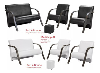 Poltrona Cadeira Decora Conju 1p 2lug, 2pç De1lug.total 3pç