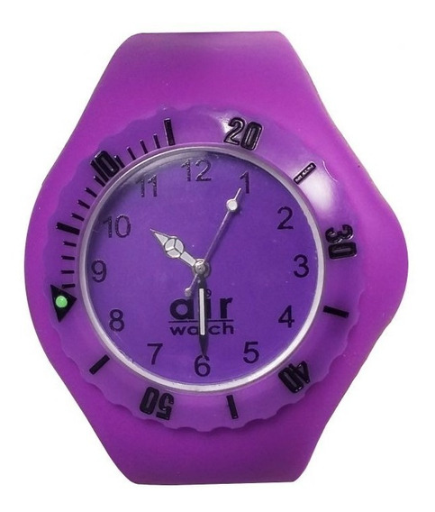 Relógio Pulso Air Watch Pulseira Silicone Roxo Esc M5
