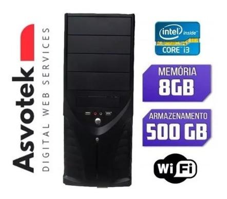 Computador Cpu Pc Intel Core I3 8gb Hd 500 Wifi