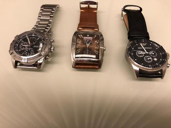 Relógios Guess E Emporio Armani
