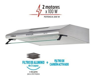 Purificador Campana Liliana Purify Plus Kp992 Extractor Aire