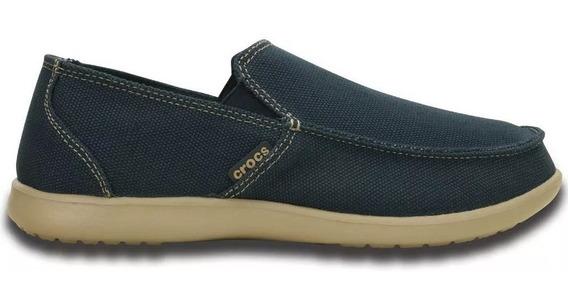 Crocs Santa Cruz Clean Cut Loafer Navy Hombre Dxt Envíos