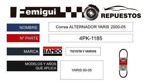 Correa Alternador Yaris 2000-05 4pk-1185 C4