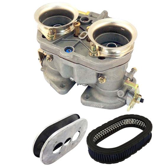 Carburador Weber 40 Idf + Filtro De Ar Esportivo Oval 40mm