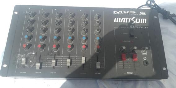 Mesa Wattsom Ciclotron Mxs 6 Canais Defeito
