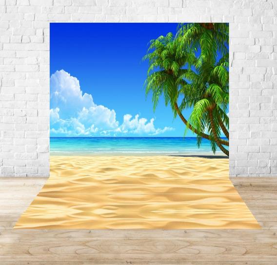 Fundo Fotográfico Em Tecido Praia 1,50 X 2,20m - Pr07
