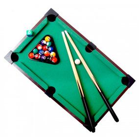Bilhar De Mesa Sinuca Snooker Portátil Tacos E Bolas 31x51cm