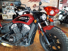 2018 Indian Scout Bobber Red Demo