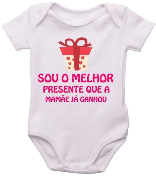 Body Infantil Bebe Personalizado Frase Melhor Presente Mamae
