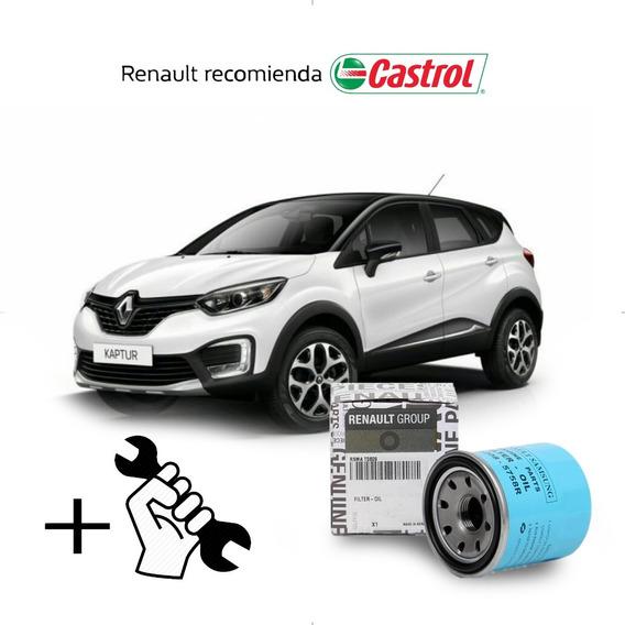 Service Cambio Aceite Y Filtros Captur Motor H4m - 2.0 Cc 16