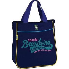 Bolsa Shopping Bag/tote Selecao Canarinho Md 1bolso So Luxce